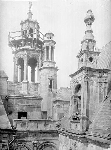 Hôtel d'Escoville (ancien) Toit : lucarne, lanterne et lanternon, Durand, Jean-Eugène (photographe),