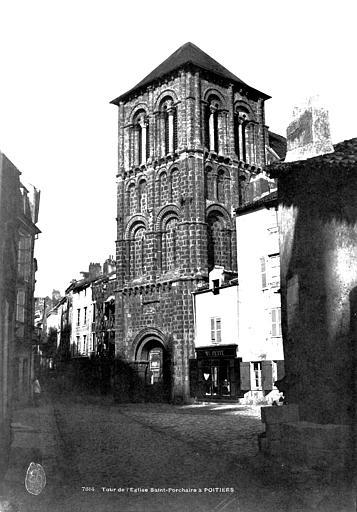 Eglise Saint-Porchaire Clocher-porche, Mestral ; Le Gray, Gustave (photographe),