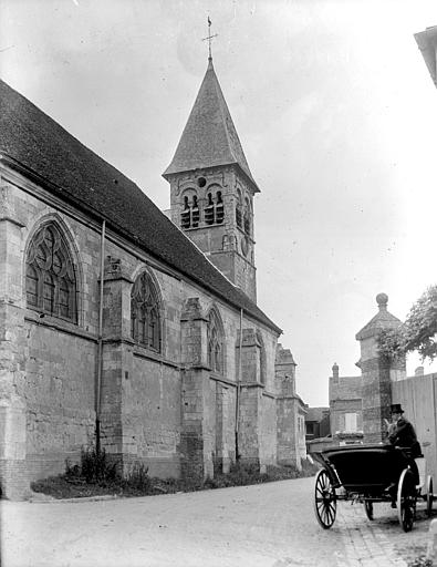 Eglise Clocher et partie latérale, Chaine, Henri (architecte),