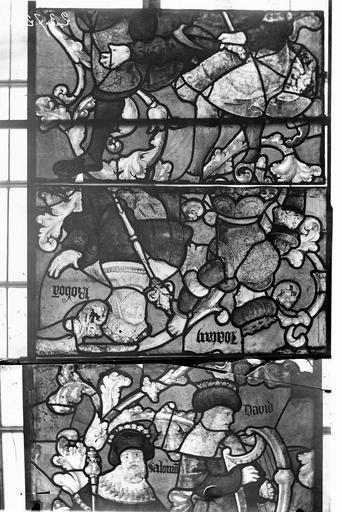 Eglise Vitraux, panneaux 4, 6, 17 de la baie E, Nadeau, H. (photographe),