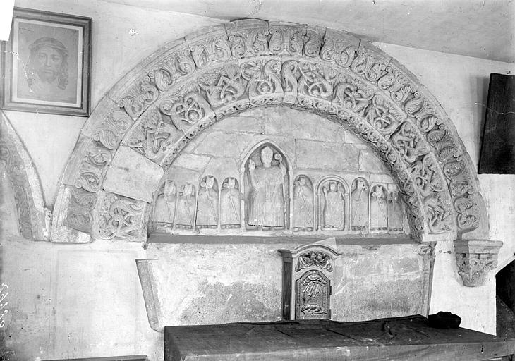 Eglise Saint-Paul-Saint-Serge Tympan, Enlart, Camille (historien),