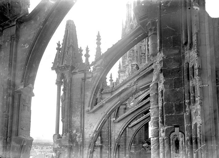 Cathédrale Façade sud : arcs-boutants de la nef, Sainsaulieu, Max (photographe),