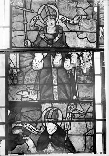 Eglise Vitraux, panneaux 3, 4, 28 de la baie F, Nadeau, H. (photographe),