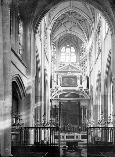 Eglise Saint-Jean Vue intérieure du choeur, Durand, Jean-Eugène (photographe),