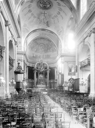 Eglise Notre-Dame ou de la Gloriette Vue intérieure de la nef vers le choeur, Durand, Jean-Eugène (photographe),