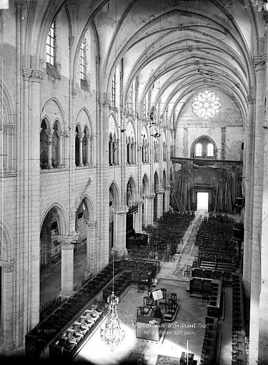 Abbaye Saint-Nicolas (ancienne) Eglise, tribune et triforium, Durand, Eugène (photographe),