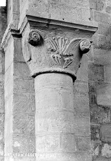 Abbaye Saint-Nicolas (ancienne) Eglise : Chapiteau situé à l'entrée de la nef, côté gauche, Robert, Paul (photographe),