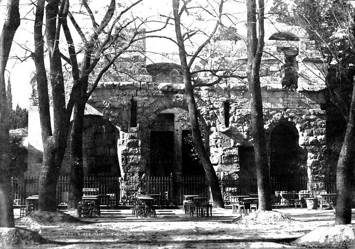 Jardin de la Fontaine Temple de Diane, Baldus, Edouard (photographe),
