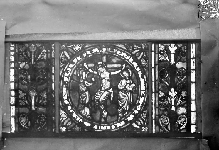 Eglise Saint-Gengoult Vitrail de l'abside, lancette de droite, panneau 26, Romanais (photographe),