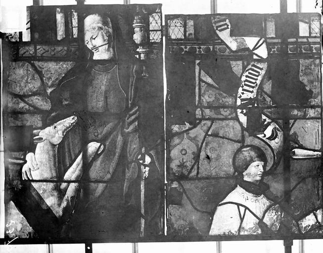 Eglise Vitraux, panneaux 3 et 9 de la baie D, Nadeau, H. (photographe),