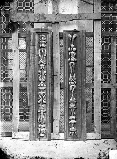 Palais de Justice Boiseries de plafond : Corbeau, Delaunay (photographe), 21 ; Dijon ; Musée des Beaux-Arts (original déposé)