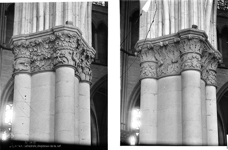 Cathédrale Notre-Dame Chapiteaux de la nef, Mieusement, Médéric (photographe),