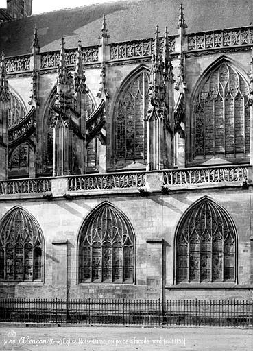 Eglise Notre-Dame Façade sud, coupe, Mieusement, Médéric (photographe),