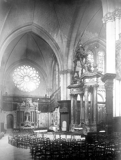Cathédrale Saint-Maurice Vue intérieure du choeur et du transept nord, Mieusement, Médéric (photographe),