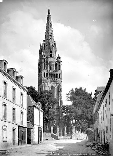 Eglise de Ploaré Clocher, côté ouest, Mieusement, Médéric (photographe),