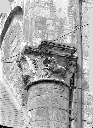 Eglise Saint-Sauveur (ancienne) Chapiteau, Heuzé, Henri (photographe),