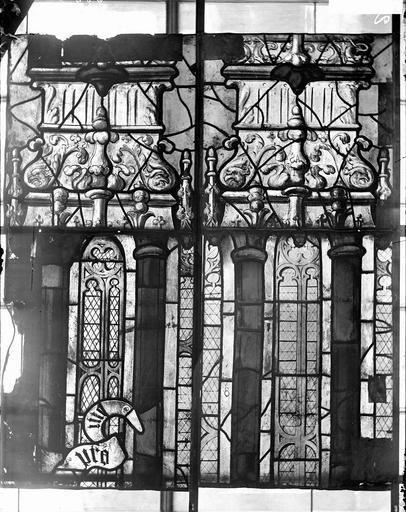 Eglise Vitraux, panneaux 4, 6, 10, 12 de la baie D, Nadeau, H. (photographe),