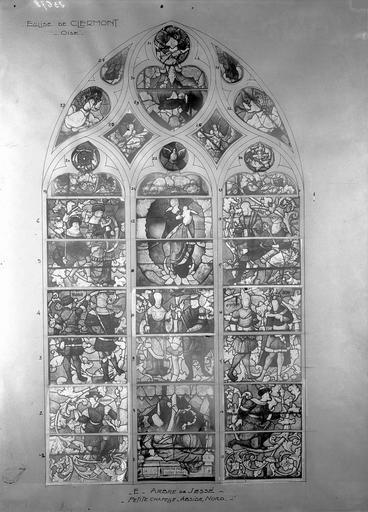 Eglise Vitraux, petite chapelle nord, baie E, Service photographique,