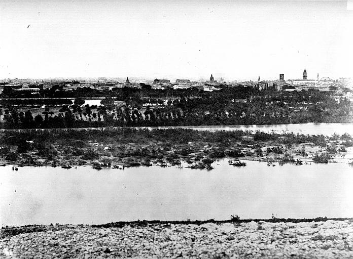 Le Rhône en crue, Baldus, Edouard (photographe),