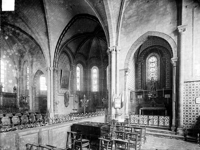 Eglise Vue intérieure du choeur, vers le nord-est, Heuzé, Henri (photographe),