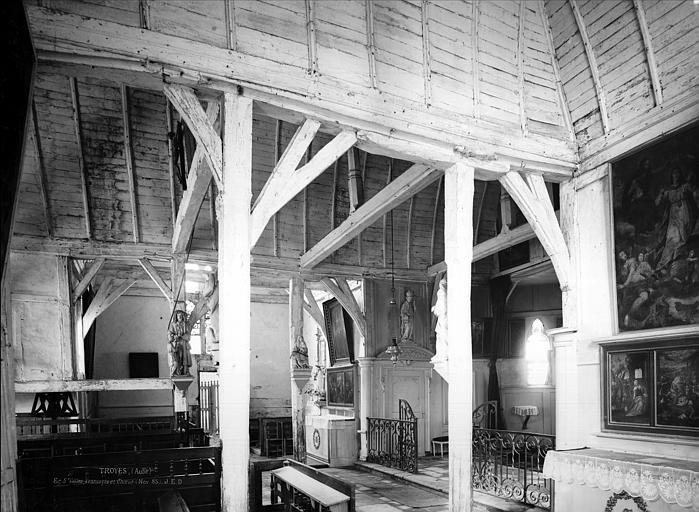 Eglise Saint-Gilles Vue intérieure du bas-côté sud et du choeur, Durand, Jean-Eugène (photographe),