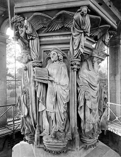 Chartreuse de Champmol (ancienne) Puits de Moïse : Jérémie et Zacharie, Delaunay (photographe),