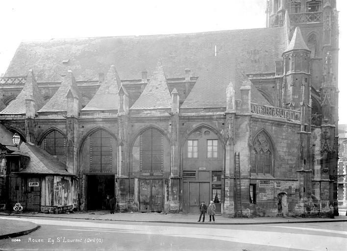 Eglise Saint-Laurent (ancienne) Façade nord, Durand, Eugène (photographe),