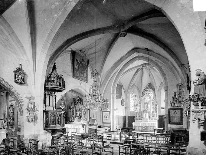 Eglise Vue intérieure de la nef et du chœur, vers le nord-est, Heuzé, Henri (photographe),