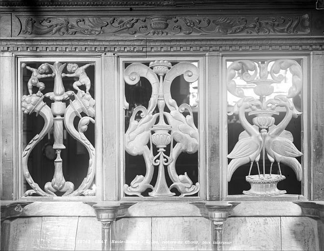 Eglise Notre-Dame Clôture du chœur : panneau, Neurdein (frères) ; Neurdein, Louis ; Neurdein, Louis (photographe),