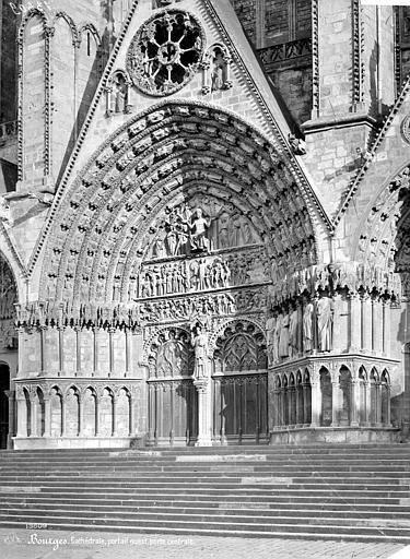Cathédrale Saint-Etienne Façade ouest : Portail central, Mieusement, Médéric (photographe),