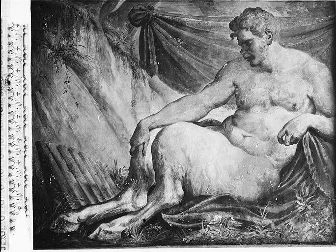 Domaine national, château Peintures murales de la galerie Henri II, Pan, Service photographique,