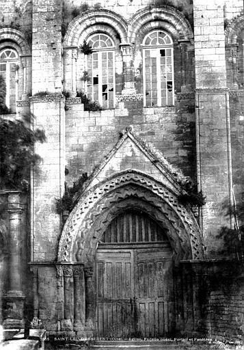 Abbaye Saint-Nicolas (ancienne) Eglise : portail ouest, Le Secq, Henri (photographe),