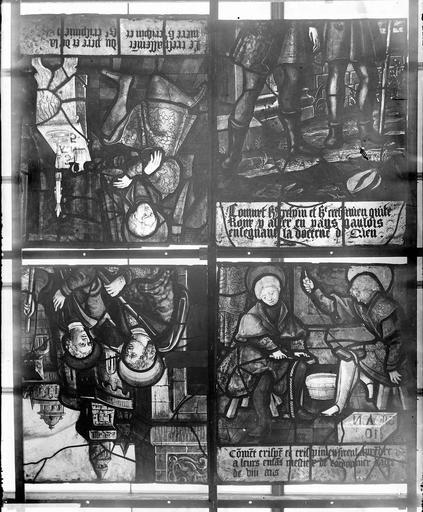 Eglise Vitraux, panneaux  5, 7, 9, 10 de la baie A, Nadeau, H. (photographe),
