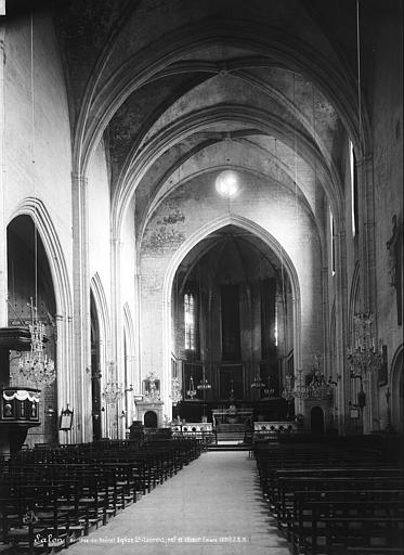Eglise Saint-Laurent Choeur, Durand, Eugène (photographe),