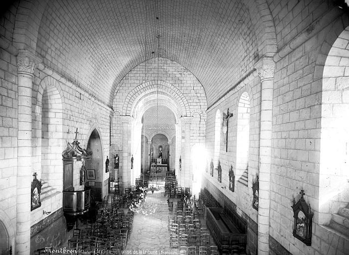 Eglise Saint-Maurice Vue intérieure de la nef vers le choeur, prise de la tribune, Mieusement, Médéric (photographe),