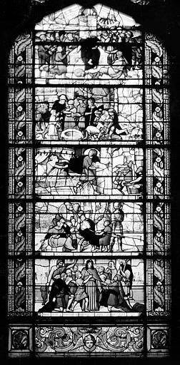 Hôpital Vitrail de la chapelle : Histoire de Joseph, Heuzé, Henri (photographe),