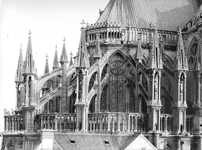 Cathédrale Notre-Dame Abside, au nord, partie haute, Lajoie, Abel,