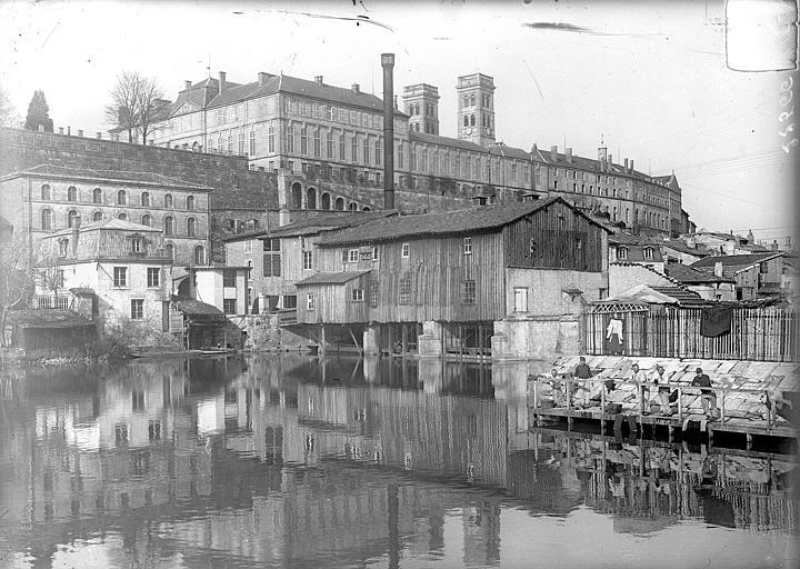 Evêché (ancien) Vue générale prise du sud-ouest, depuis le canal des Augustins, Vercollier (abbé),