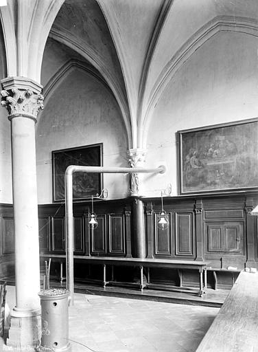 Abbaye Saint-Remi (ancienne) ou ancien Hôtel-Dieu Réfectoire, Robert, Paul (photographe),