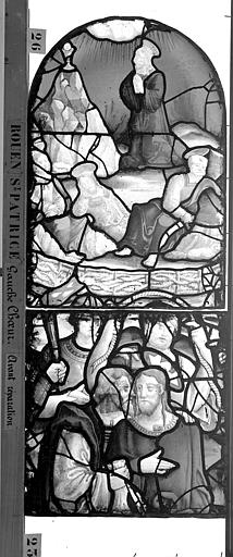 Eglise Saint-Patrice Vitrail, fenêtre gauche, premier panneau, Heuzé, Henri (photographe),