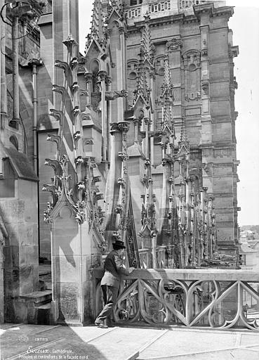 Cathédrale Notre-Dame façade nord : Galerie et pinacles, Mieusement, Médéric (photographe),