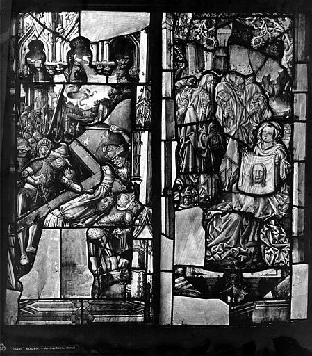 Archevêché Vitrail, Le Mauvais larron, sainte Véronique, Leprévost (photographe),