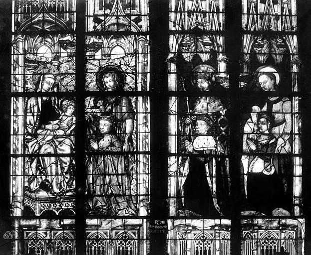 Cour d'appel Sainte-Chapelle, verrières, Durand, Eugène (photographe),