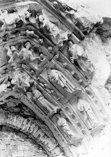 Basilique Saint-Denis Voussures, portail sud, Durand, Eugène (photographe),