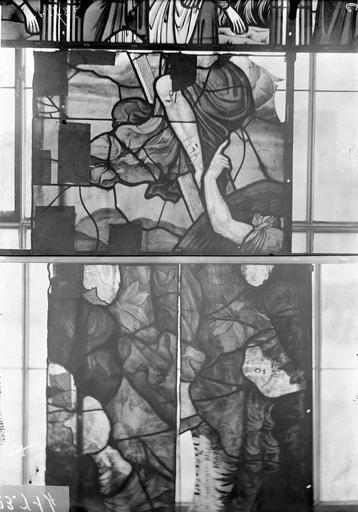 Eglise Vitraux, panneaux 1, 6 et 8 de la baie G, Nadeau, H. (photographe),