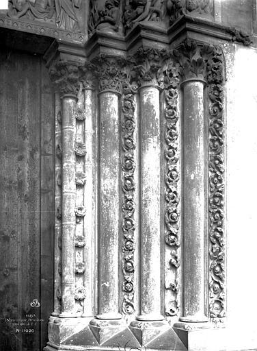 Sainte-Chapelle Porte haute, piédroits, Durand, Eugène (photographe),