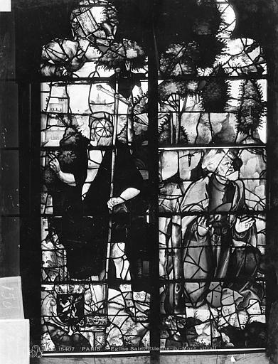 Eglise Saint-Etienne-du-Mont Vitrail, baie B : vie du Christ, Leprévost (photographe),