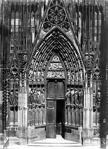 Cathédrale Notre-Dame Portail nord de la façade ouest, Le Secq, Henri (photographe),