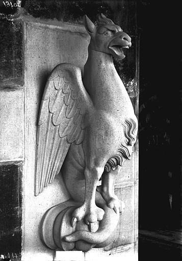 Cathédrale Notre-Dame Bête d'amortissement, oiseau, tour nord, Lajoie, Abel,