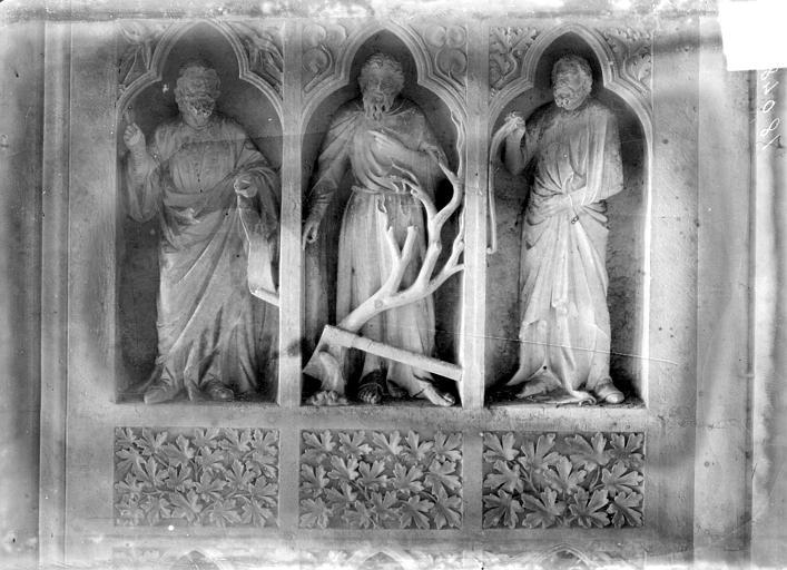Cathédrale Revers du grand portail de la façade ouest, côté droit, deuxième registre, Sainsaulieu, Max (photographe),